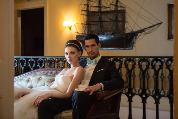 Nautical Wedding Photo Shoot at India House, New York