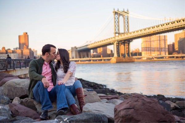 Melissa and Kaveh, Dumbo Engagement Shoot New York City