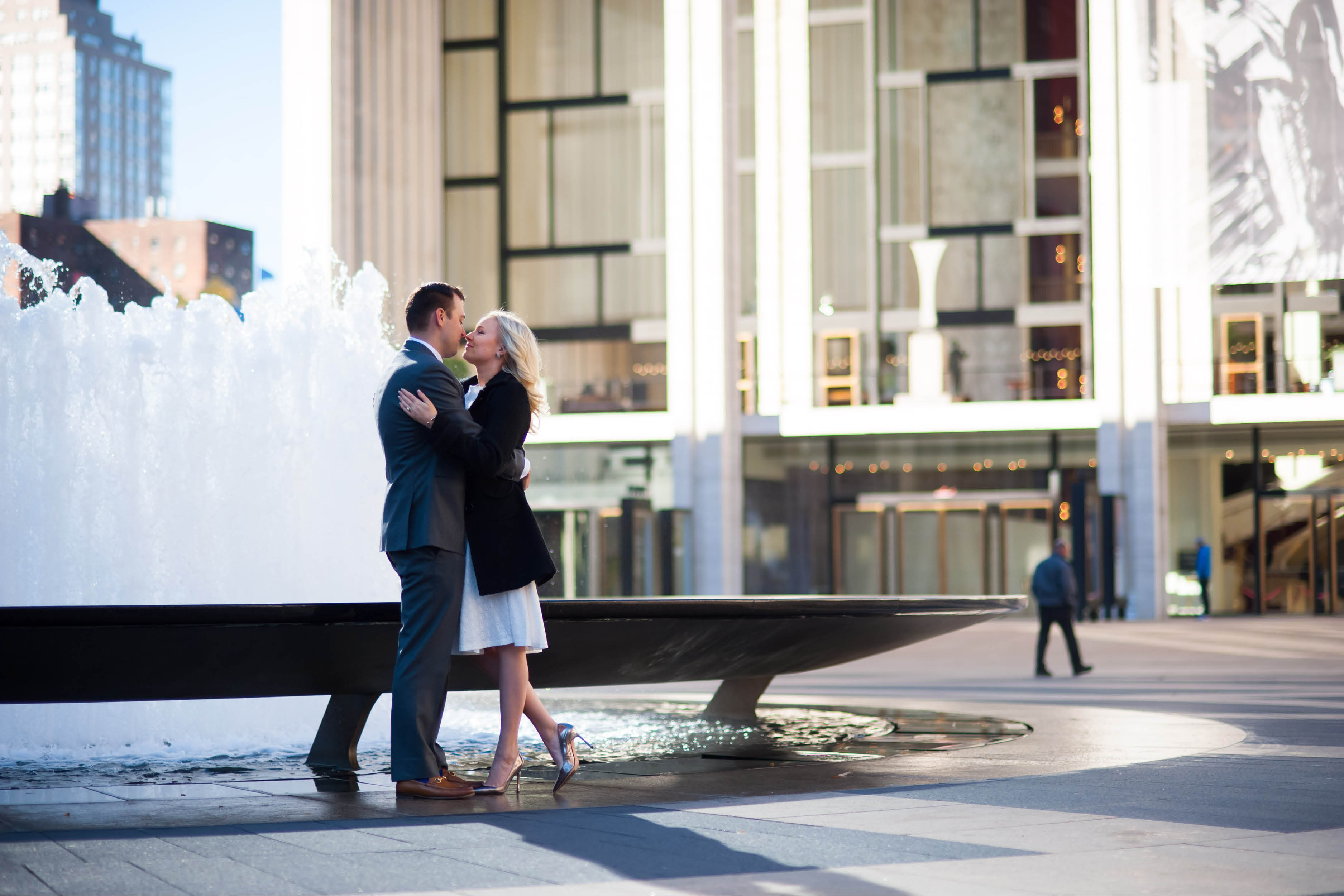 Emma_cleary_photography Lincoln center engagement shoot