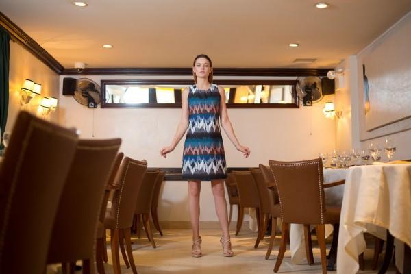 Solaris Travel Dress, Photo Shoot at Cipriani Downtown