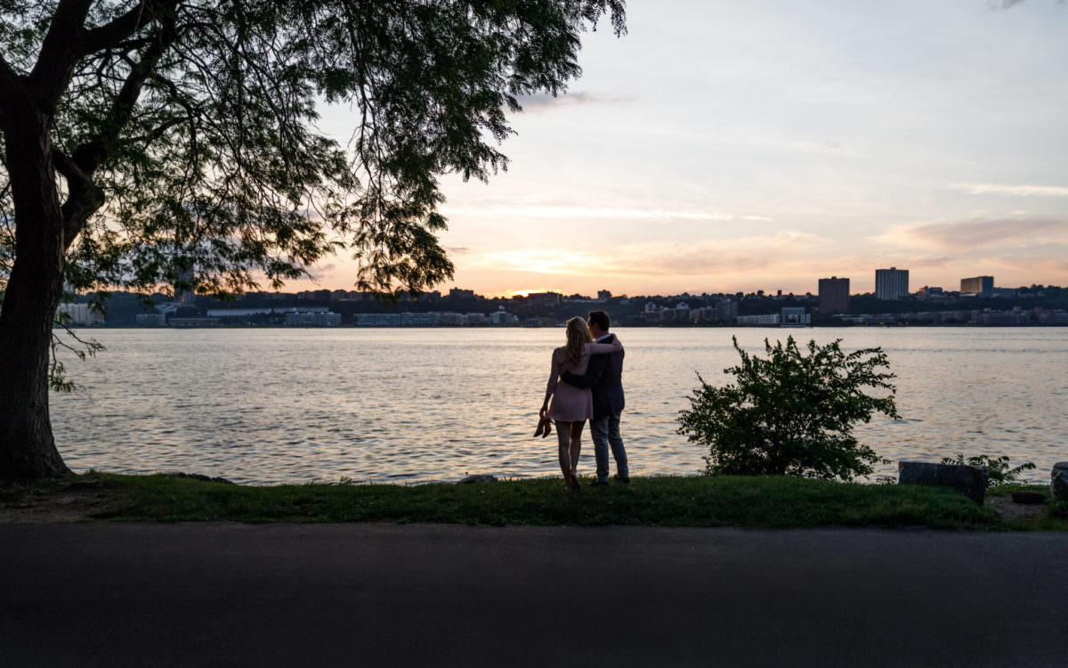 Catherine and Mark, Riverside Drive Engagement Shoot