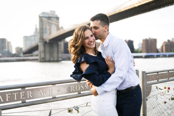 Michelle and CJ, Dumbo Brooklyn Engagement Shoot
