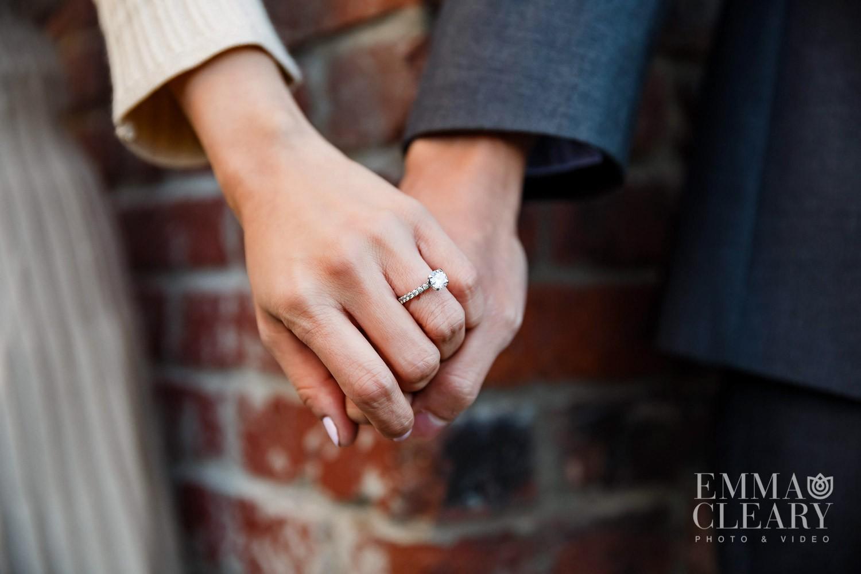 Hands engagement photo