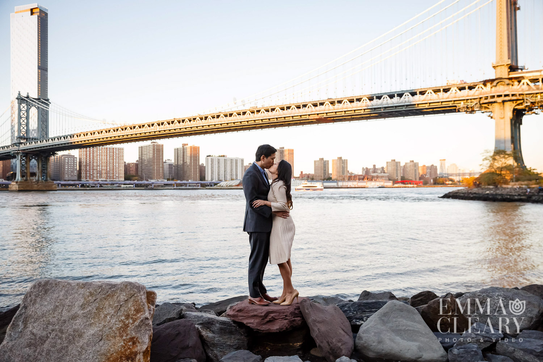 Manhattan Bridge Engagement Photos