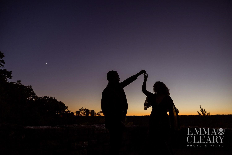 sunset engagement shoot
